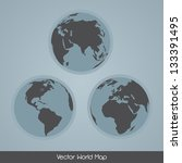 elegant earth globe vector set | Shutterstock .eps vector #133391495