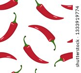 seamless pattern with red hot... | Shutterstock .eps vector #1333919774