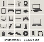 computer  electronic device  tv ... | Shutterstock .eps vector #133395155