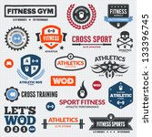 set of various sports and... | Shutterstock .eps vector #133396745