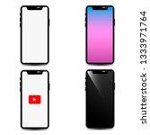 smartphone set. mockup | Shutterstock . vector #1333971764