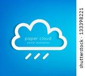 Paper Rainy Cloud Background...