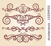 vector ornament in flower style | Shutterstock .eps vector #13339933
