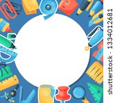 stationery round pattern vector ... | Shutterstock .eps vector #1334012681
