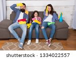 tired parents and kid. cleaning ... | Shutterstock . vector #1334022557