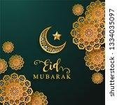 ramadan kareem or eid mubarak... | Shutterstock .eps vector #1334035097