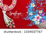 songkran festival  thailand... | Shutterstock .eps vector #1334037767