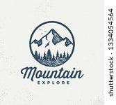 vector mountains emblem.... | Shutterstock .eps vector #1334054564