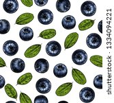 juicy blueberry. vector... | Shutterstock .eps vector #1334094221