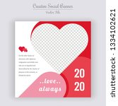 valentine's day unique editable ... | Shutterstock .eps vector #1334102621
