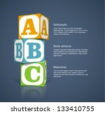 three alphabet cubes with...   Shutterstock .eps vector #133410755