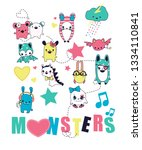cute graphic vector for t shirt ... | Shutterstock .eps vector #1334110841