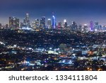 downtown los angeles skyline at ...   Shutterstock . vector #1334111804