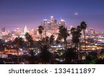 beautiful night of downtown los ... | Shutterstock . vector #1334111897