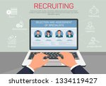 recruiting selection and... | Shutterstock .eps vector #1334119427