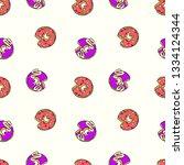 donuts. cartoon print. seamless ... | Shutterstock .eps vector #1334124344