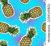 summer seamless bright pattern... | Shutterstock .eps vector #1334145821