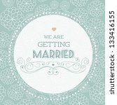 vector illustration. wedding... | Shutterstock .eps vector #133416155