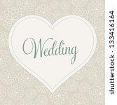 vector illustration. wedding... | Shutterstock .eps vector #133416164