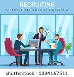 flat banner recruiting staff... | Shutterstock .eps vector #1334167511