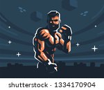 a male fighter of mixed martial ...   Shutterstock .eps vector #1334170904