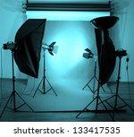 photo studio with lighting... | Shutterstock . vector #133417535