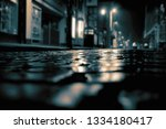 cobbled road on a city high...   Shutterstock . vector #1334180417