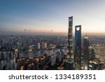 aerial view of lujiazui ... | Shutterstock . vector #1334189351