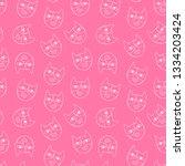 cute cats. cartoon print.... | Shutterstock .eps vector #1334203424