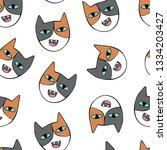 cute cats. cartoon print.... | Shutterstock .eps vector #1334203427