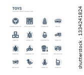 simple set of icons such as... | Shutterstock .eps vector #1334241824