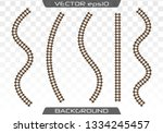 straight tracks art design.... | Shutterstock .eps vector #1334245457