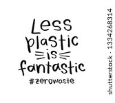 zero waste concept with less... | Shutterstock .eps vector #1334268314