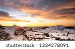 beautiful sunrise over... | Shutterstock . vector #1334278091