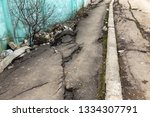 landslide caused by rains of... | Shutterstock . vector #1334307791