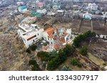 landslide caused by rains of... | Shutterstock . vector #1334307917
