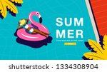 summer holiday  poster design  | Shutterstock .eps vector #1334308904