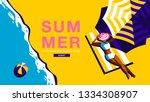 summer holiday  poster design  | Shutterstock .eps vector #1334308907