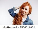 enchanting ginger woman in...   Shutterstock . vector #1334314631