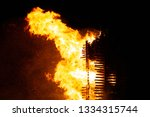 the sparks fire is an old fire...   Shutterstock . vector #1334315744
