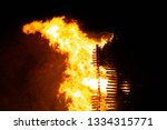 the sparks fire is an old fire...   Shutterstock . vector #1334315771