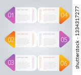 infographic banners. colorful... | Shutterstock .eps vector #1334317277