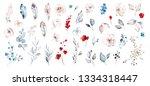 set watercolor elements of... | Shutterstock . vector #1334318447
