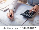 finance and accounting concept. ... | Shutterstock . vector #1334331017