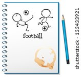 illustration of a notebook with ... | Shutterstock . vector #133433921