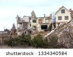 landslide caused by rains of... | Shutterstock . vector #1334340584