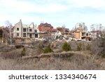 landslide caused by rains of... | Shutterstock . vector #1334340674