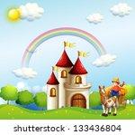 illustration of a farm boy... | Shutterstock . vector #133436804