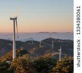 windmill mountain power plant    Shutterstock . vector #1334380061
