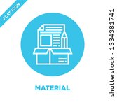 material icon vector. thin line ... | Shutterstock .eps vector #1334381741